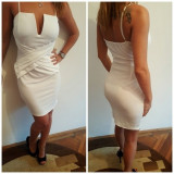 Rochie alba eleganta - Rochie cocktail, Marime: Marime universala