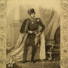 Bibescu Voda, Lithografie 1843 - Pictor roman