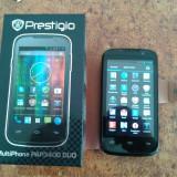 Mobil dual sim PRESTIGIO MULTIPHONE 3400 DUO, ca nou, cutie, husa, folie - Telefon mobil Prestigio, Negru, 4GB, Neblocat, Dual-core
