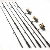3 lansete FL POWER PLUS 3, 6m cu 3 mulinete KT5000A cu 9 rulmenti si baitrunner - Lanseta