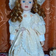 Papusa portelan Viviane- foarte delicata - Papusa de colectie