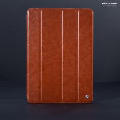 Husa/toc LUX piele fina HOCO Crystal, iPad 2 / 3 / 4, smart cover, MARO CONIAC - Husa Tableta