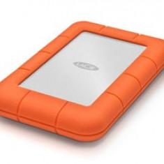 SSD Extern LaCie Rugged 1 TB USB 3.0 Thunderbolt Argintiu - Portocaliu